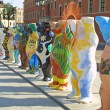 Stock Photo: United Buddy Bears exhibition in Warsaw