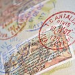 Royalty-Free Stock Photo: Passport with turkish visas and stamps