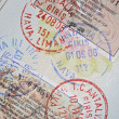 Passport with turkish visas and stamps — Stock Photo