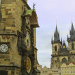Stock Photo: Old Town Hall and Tyn Cathedral, Prague