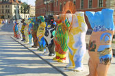 United Buddy Bears exhibition in Warsaw — Stock Photo