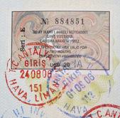 トルコのビザとスタンプ — ストック写真