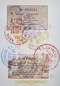 Turkish visas and stamps — Stock Photo
