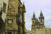Old Town Hall and Tyn Cathedral, Prague — Stockfoto