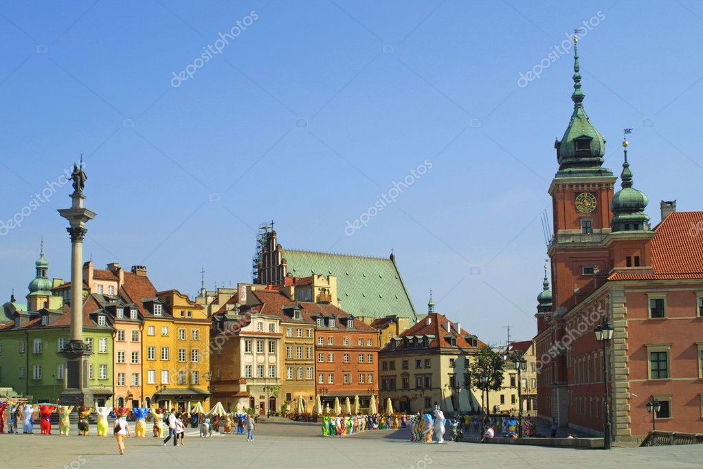 Castle Square, Warsaw, Poland — Stock Photo #2584856
