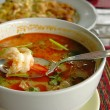Tom Yum soup with shrimps - Stock Photo