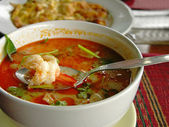 Tom Yum soup with shrimps — Stock Photo