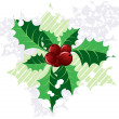 Stock Photo: Christmas holly,