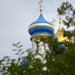 Orthodox temple against the cloudy sky — Stock Photo