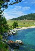 Summer day, lake Baikal — Stock Photo