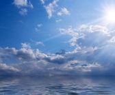 Sun, clouds and sea — Stock Photo