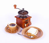 Coffee and apple-pie — Stock Photo