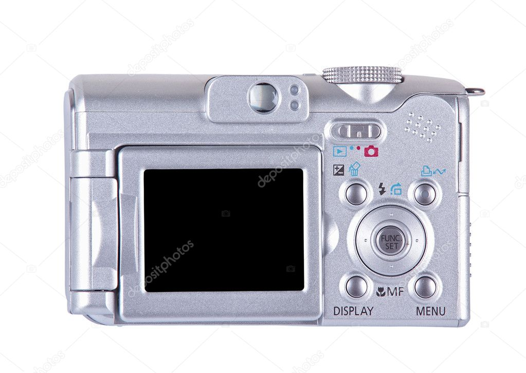 Digital camera isolated over white (clipping path)                     — Stock Photo #1153163