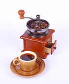 Coffee-grinder and coffee — Stock Photo
