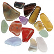 Stock Photo: Semi-precious stones isolated