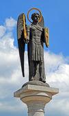 Archangel michael statue — Stock Photo