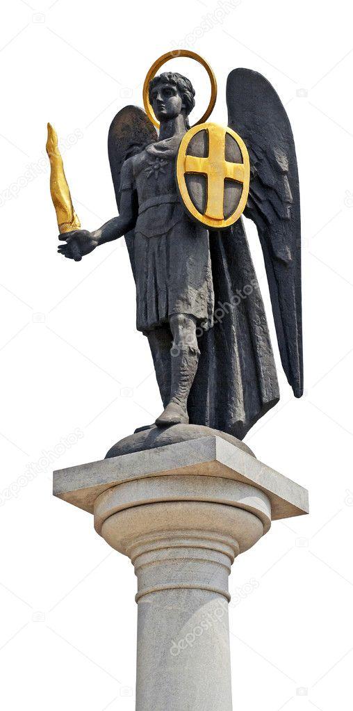 Archangel Michael Statue Kiev Ukraine Archangel Michael Statue on a