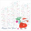 Royalty-Free Stock Vector Image: The colorful vector card of Santa Claus