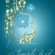 Royalty-Free Stock Imagen vectorial: Floral color  ornate background.