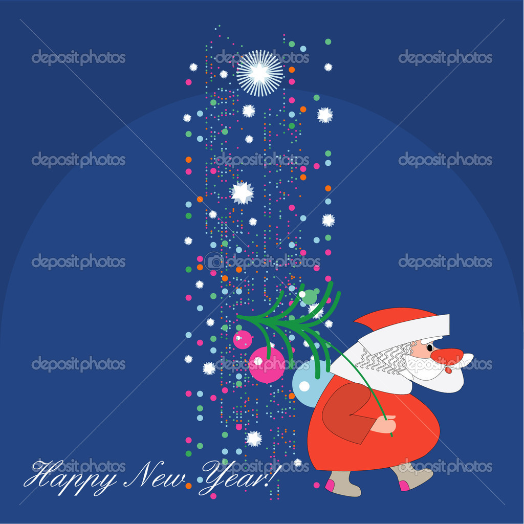 The colorful vector card of Santa Claus  — Stock Vector #1142006