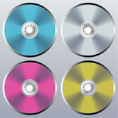 Four vector CD — Stock Vector