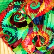 Stock Photo: Abstract artistic spiral background.