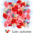 Rug of autumnal leaves background. - Stock Photo