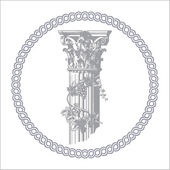 Corinthian column — Stock Vector