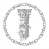Corinthian column — Stock Vector