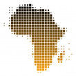 Royalty-Free Stock Photo: Map of Africa in squares with brown grad
