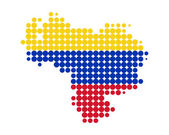 Map of Venezuela — Stock Photo