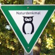 German sign nature reserve — Stock Photo