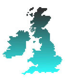 Vector map of British Isles in broad lin — Foto de Stock