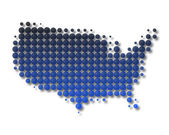 Map of United States of America — Stock Photo
