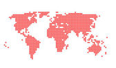 World map with Yen sign in red dots — Stock Photo