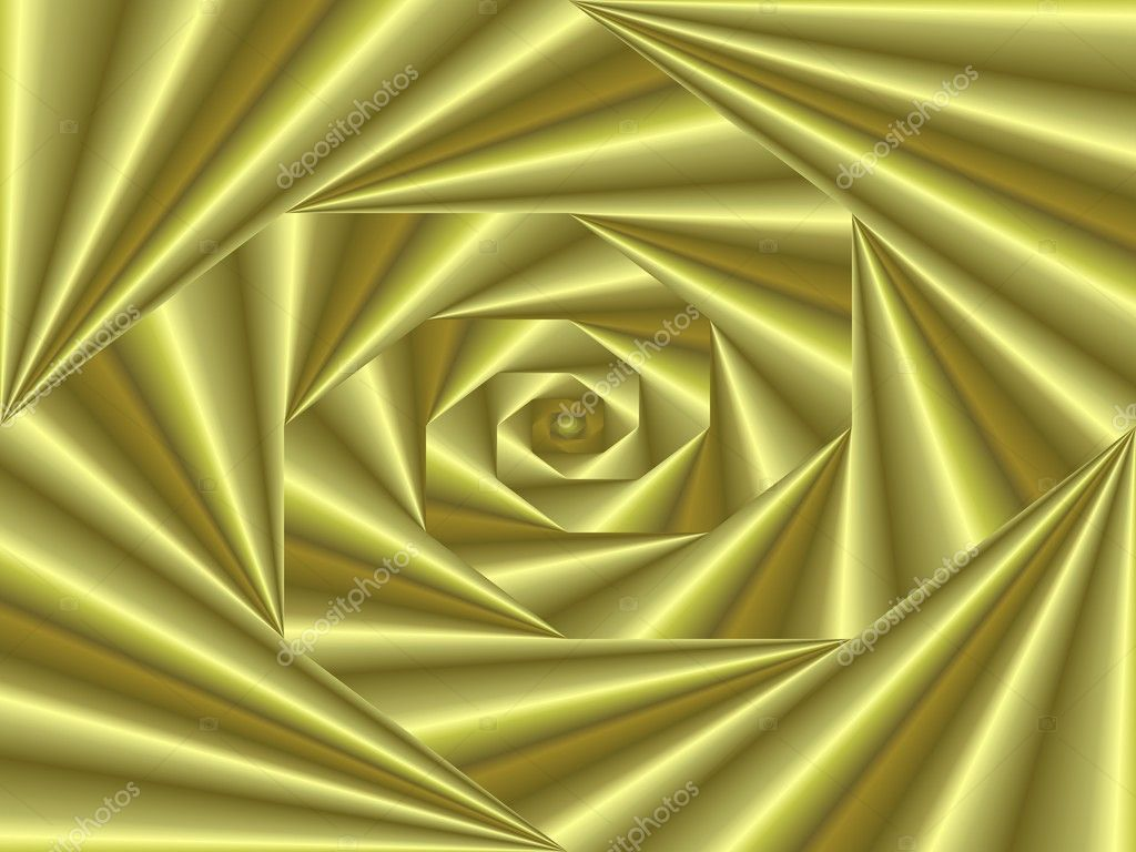 Labyrinth of golden cones with central focus — Stock Photo #1203714