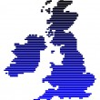 Stock Photo: Map of British Isles
