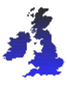 Map of the British Isles — Stock Photo