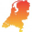Map of the Netherlands — Stock Photo