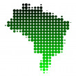Foto Stock: Map of Brazil
