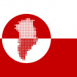 Map and flag of Greenland — Stock Photo