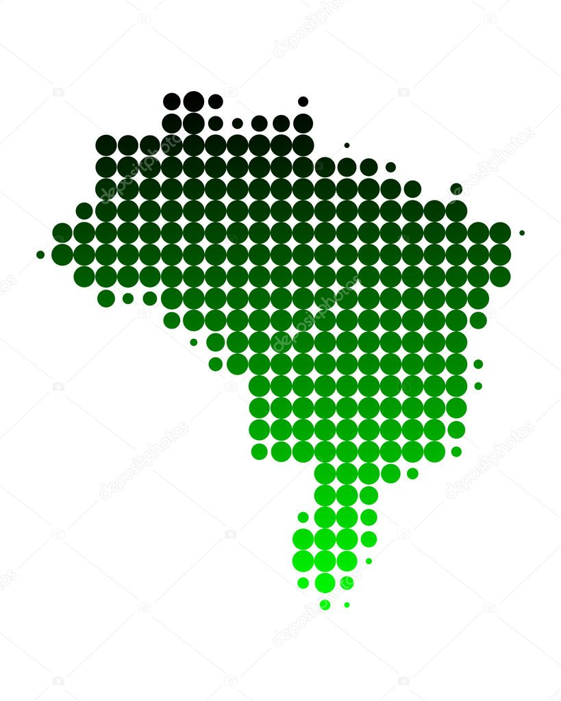 Map of Brazil — Stock Photo #2481323