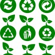 Environment green icons — Stock Vector