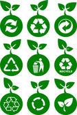 Environment green icons — Stock Vector