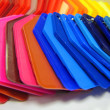 Stock Photo: Plastic color samples