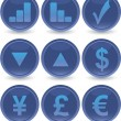 Stock Vector: Blue web icons set