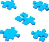 Blue puzzle pieces — Stock Vector