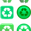 Stock Vector: Recycle Symbol Vector Illustration