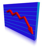 Business Failure graph down arrow — Stock Vector