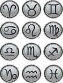 Zodiac Icon Set — Stock vektor